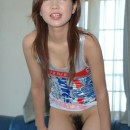 Amateur asian takes off her white panties