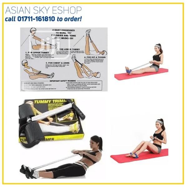 Tummy Trimmer for Weight loss (Unisex) | Tummy Trimmer-Abs Exerciser- Body Toner- Fat Buster- Multipurpose Fitness Equipment for Men & Women | Single Spring Tummy Trimmer