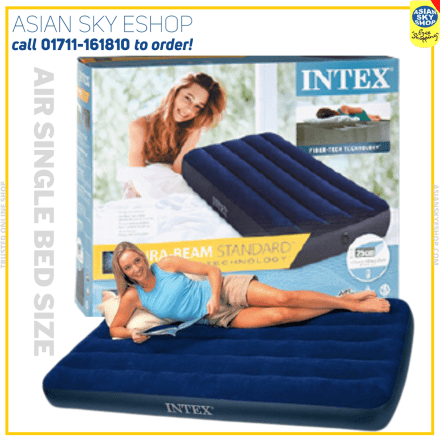 Intex Inflatable Single Air Bed with Pumper
