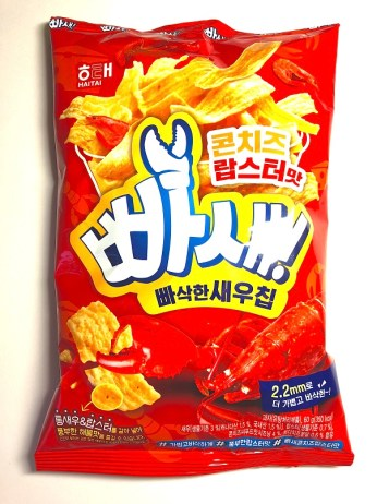 Haitai Ppash Seh Corn Cheese Lobster Flavor Korean Chips