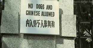 """No Dogs and Chinese allowed"""" - Yes, that includes you, dear ..."""