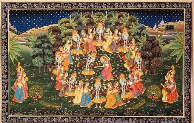 Hindouisme Illustration du Lila, le jeu divin