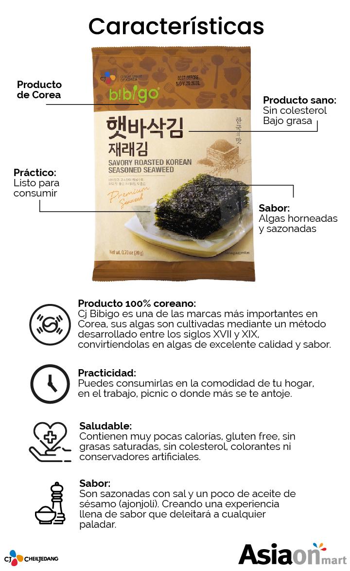 Descripción algas bibigo