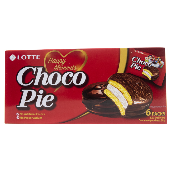 Lotte Choco Pie Chocolate 6pzs