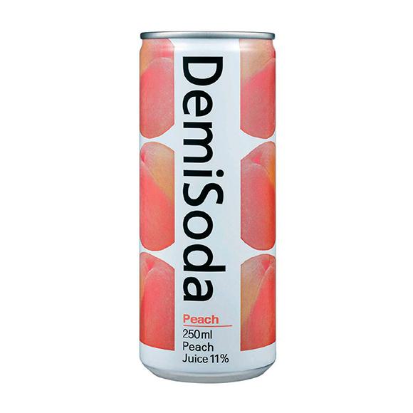 Demisoda bebida carbonatada sabor durazno 250 ML