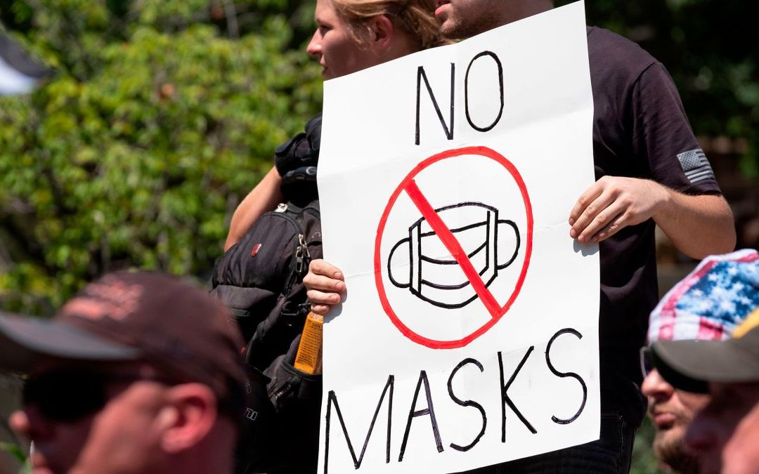 """USA// Start wearing a mask, """"anti-masking"""" violates other people's rights"""