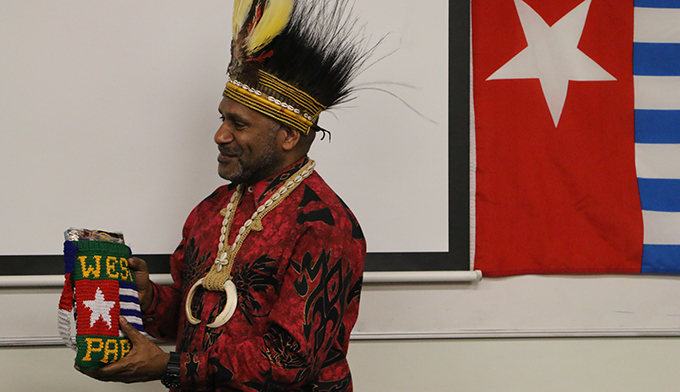 """Lifelong"" Free West Papua advocate Benny Wenda says New Zealand support is integral to the global campaign. Image: Kendall Hutt/PMC"