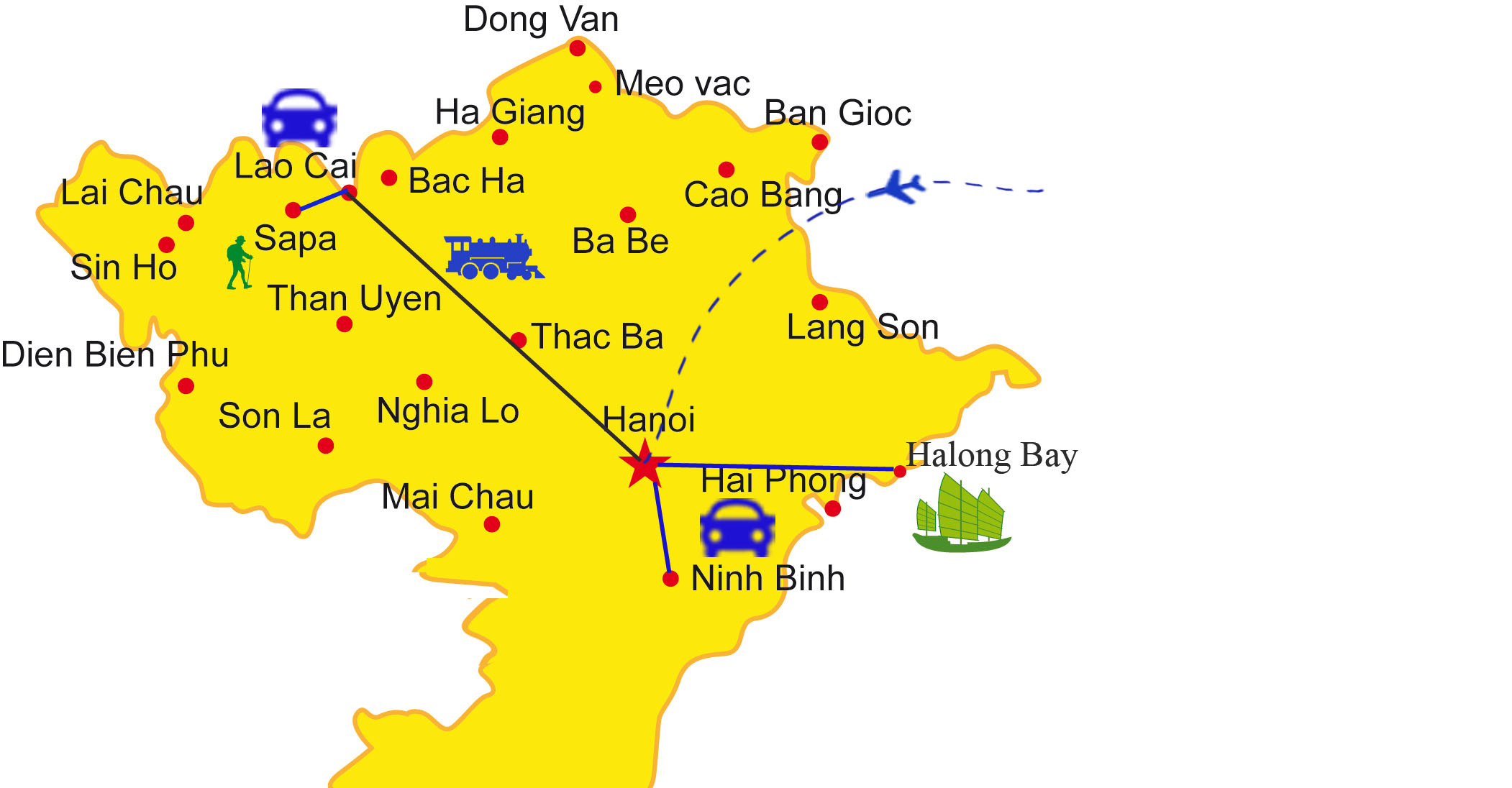 How To Travel Northern Vietnam With Ease Itinerary Map