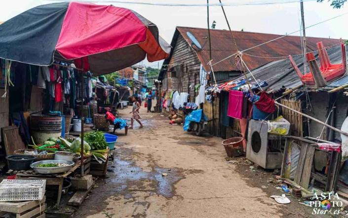 A slum village along the Yangon Circle Line.