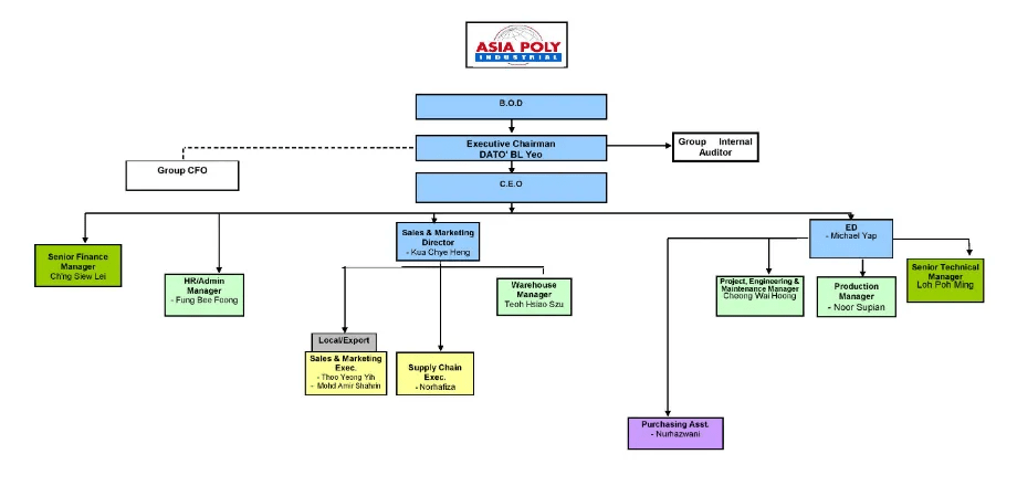 AsiaPoly organization structure