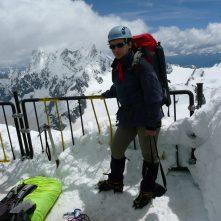 Aiguille du Midi, aklimatyzacja przed Mont Blanc, 2008 r.