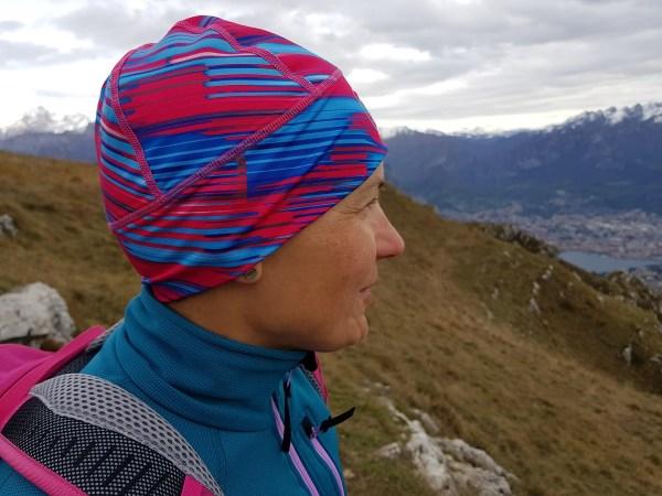 dziwczyna w górach, Alpy Bergamskie