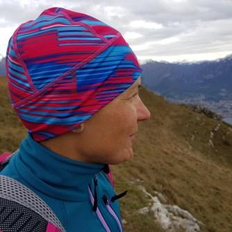 dziwczyna wgórach, Alpy Bergamskie