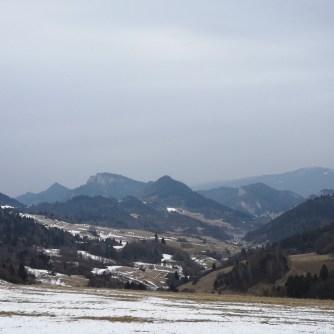 Trzy Korony, Pieniny, widok zeSłowacji