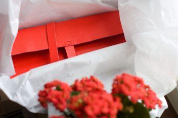 czerwony piórnik, prezent, Święta, Mikołaj