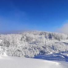 zima, Beskidy, Klimczok