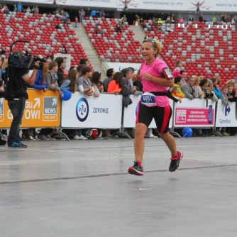 dziewczyna, bieganie, maraton, Warszawa