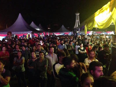 Part of the crowd at the Sikh Fest in Ipoh, Perak