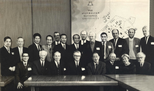 Prof Dhaliwal, standing fourth from right, during the Pacific Science Congress in Canberra.