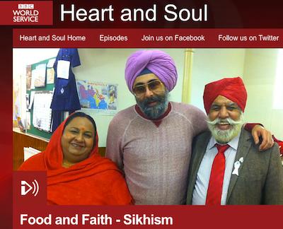 Hardeep Singh Kohli (centre) explores Guru ka Langgar in a BBC programme