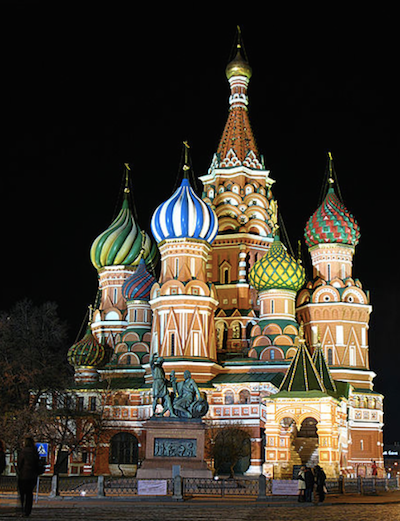 St Basil Cathedral in Moscos, Russia