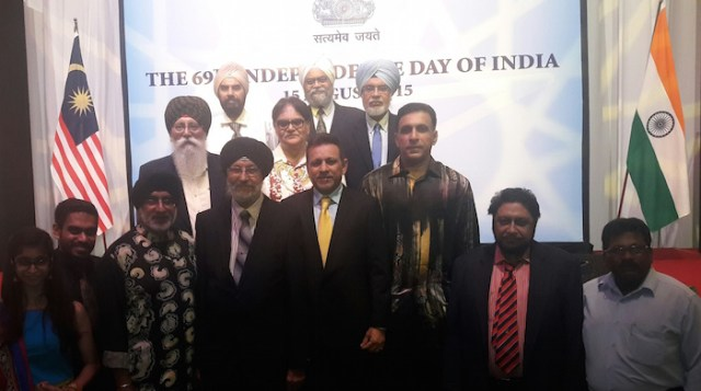 Some Sikh leaders at the Indian national day 2015 celebration in Kuala Lumpur. - PHOTO ASIA SAMACHAR