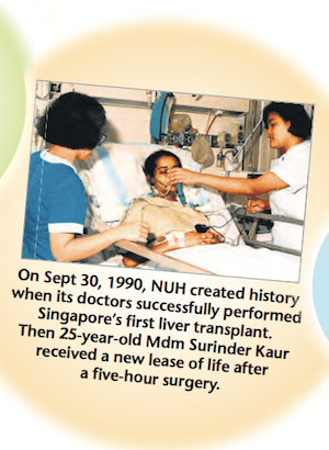 Surinder was mentioned in a special issue in the Straits Times (20 June 2010) when National University Hosiptal (NUH) celebrated its 25th anniversary in 2010.