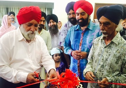 NEW LIBRARY: Darshan Singh (left) at the official opening ceremony of the library at Wadda Gurdwara Sahib Ipoh. Looking on (L-R0 are Sher Singh, Omkar Singh, WGSI manager Mohinder Singh, WGSI commitee president Amarjit Singh Gill and Jit Singh - PHOTO COURTESY WGSI