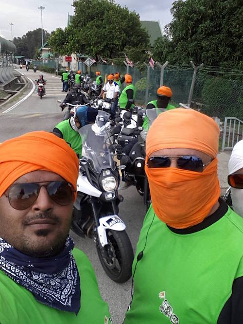 Members of the Northern Punjabi Bikers Community Malaysia in one previous tour.