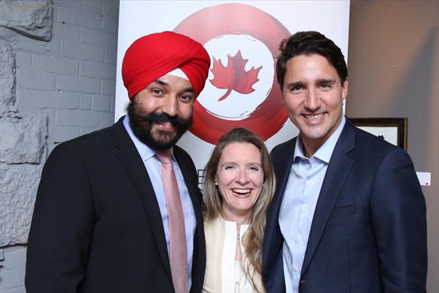 Navdeep Singh Bains: Minister of Innovation, Science and Economic Development. Seen here in a photo with Prime Minister Justin Trudeau.
