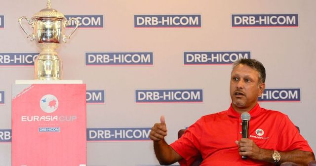 Jeev Milkha Singh, captain of Team Asia at the EurAsia Cup 2016, at a press conference on 14 Jan 2016 - PHOTO/ASIAN TOUR