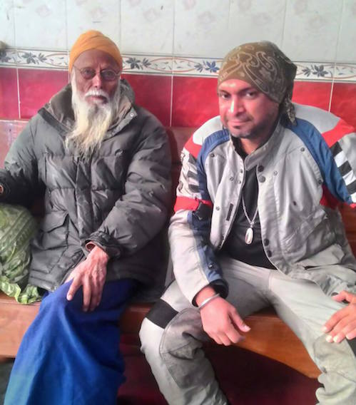 Surinder Pal Singh with a Sikh, believed to be the eldest in Taunggyi, Myanmar. - PHOTO / SURINDER PAL SINGH