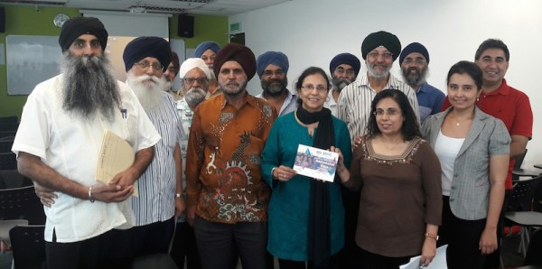 Dr Sarjit Singh Gill (left) with the participants at the CMSO workshop - PHOTO / ASIA SAMACHAR