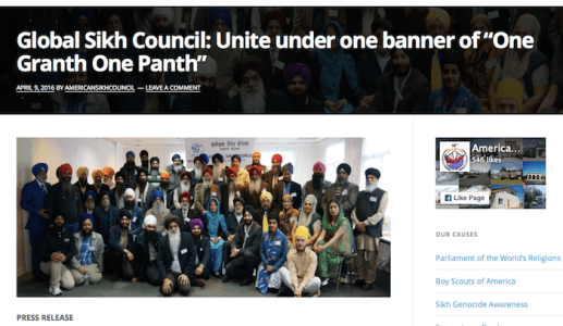 The statement from Global Sikh Council - PHOTO / ASIA SAMACHAR