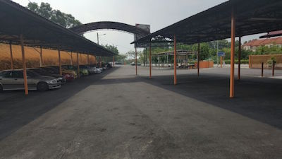 The newly resurfaced car park for Gurdwara Sahib Puchong - PHOTO/Gurdwara
