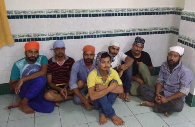 The Punjabi youths who are trapped in Kuala Lumpur. Tribune photo