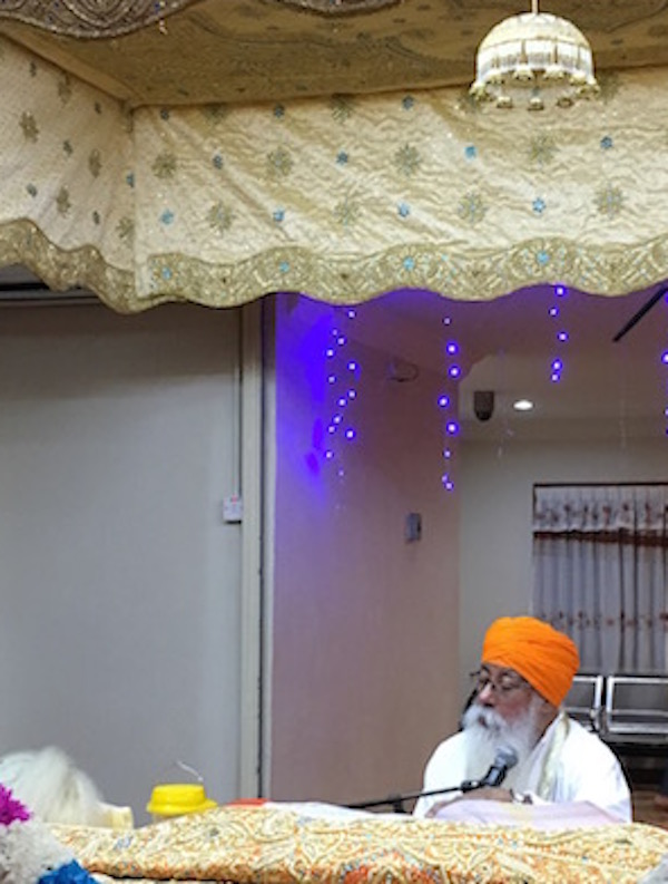 Guru Granth Sahib reading