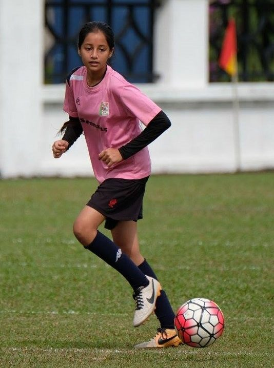 Asheesh Kaur at one of her football tournament