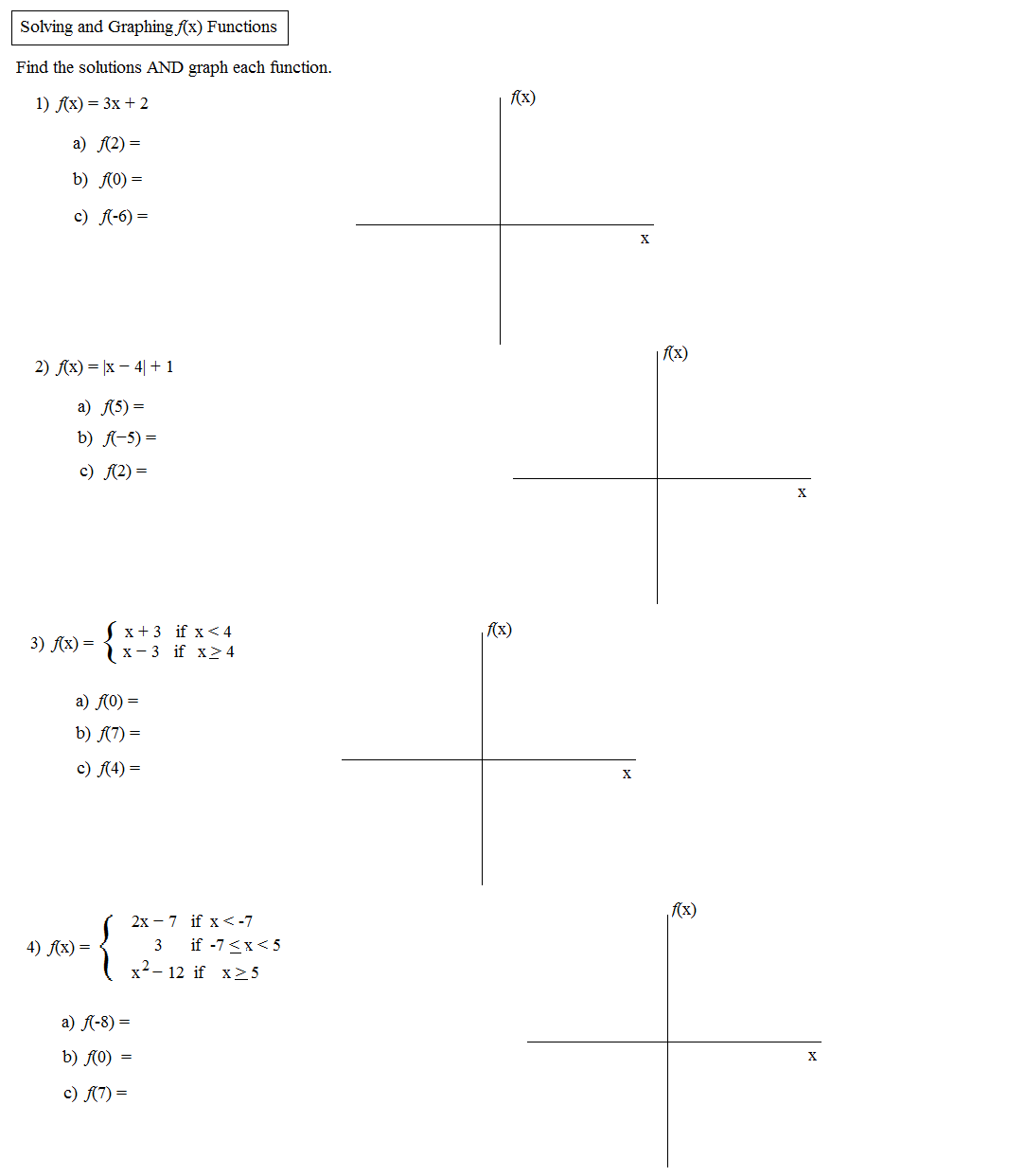 Example Of Function Notation In Math