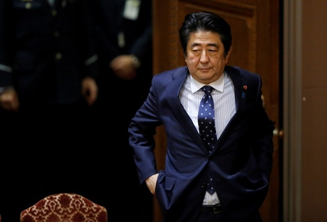 Japan's Prime Minister Shinzo Abe. Photo:  Reuters/Toru Hanai/File Photo