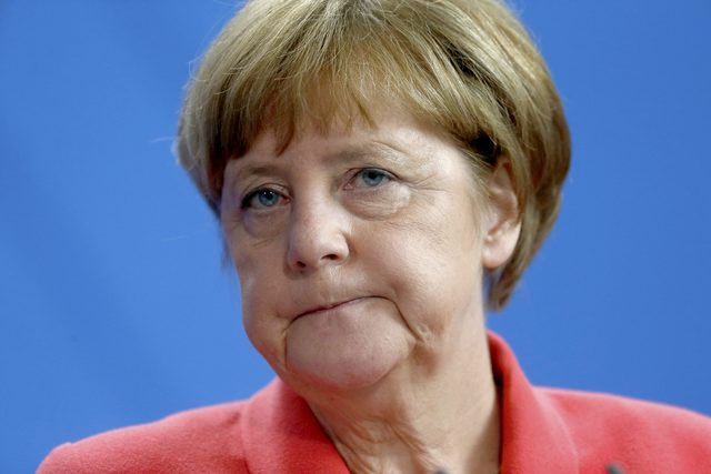 Angela Merkel called on Donald Trump to steer clear of protectionism and isolation. Photo: Reuters