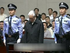 Zhou Yongkang, China's former domestic security chief, listens to his sentence on corruption charges in a court in Tianjin. Photo: China Central Television via Reuters TV