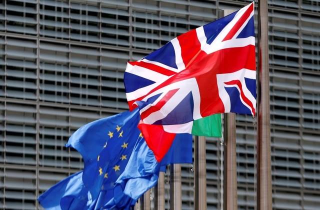 Flags flutter outside the European Commission headquarters in Brussels on June 28, 2016. Photo: Reuters / Francois Lenoir