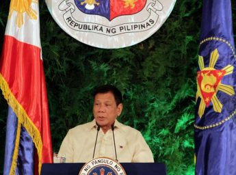 President Rodrigo Duterte delivers his inaugural speech as the President of the Philippines at the Malacanang Palace in Manila