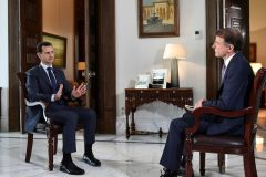 Syria's President Bashar al-Assad speaks during an interview with NBC News