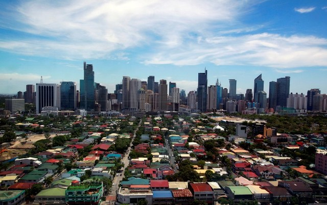 A general view of the skyline from the Makati City Hall in Manila, Philippines. Photo: Reuters/Nicky Loh