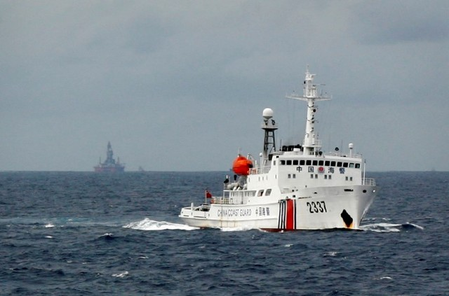 A Chinese Coast Guard vessel. Reuters/Nguyen Minh