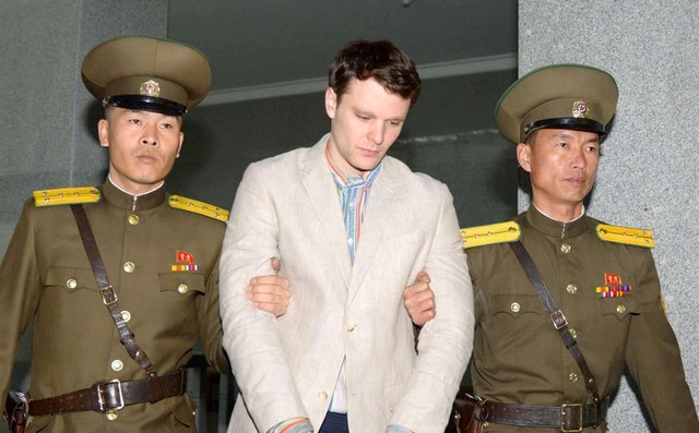 Otto Frederick Warmbier, a University of Virginia student, died June 19 after being returned from detention in North Korea in a coma. Photo: Reuters/Kyodo