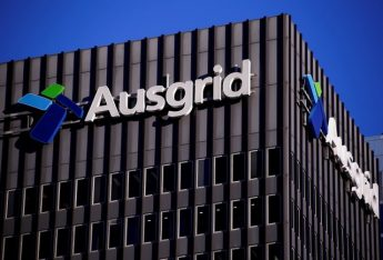 he logo for Australia's biggest electricity network Ausgrid adorns the headquarters building in central Sydney