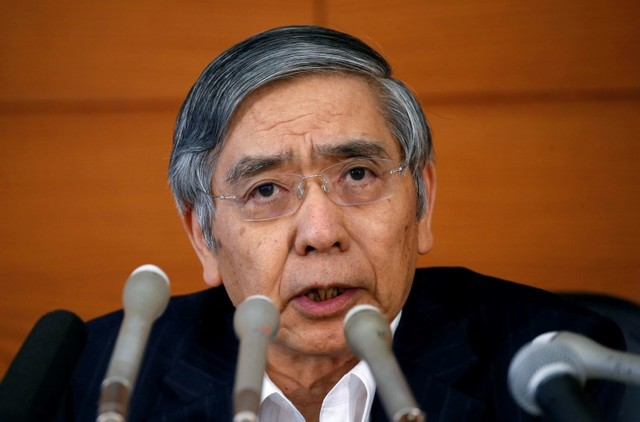Bank of Japan Governor Haruhiko Kuroda attends a news conference at the BOJ headquarters in Tokyo on July 29, 2016. Photo: Reuters/Kim Kyung-Hoon